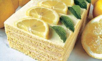 Zitronen-Buttercremeschnitte