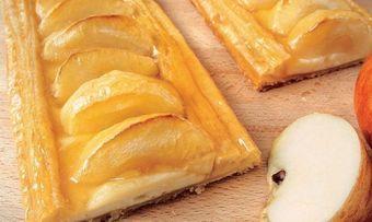Apfel-Blätterteigschnitte