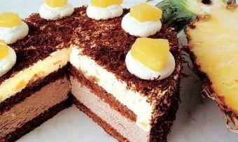 Schokoladen-Ananas-Sahnetorte