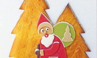 Weihnachtsmann-Schaustück