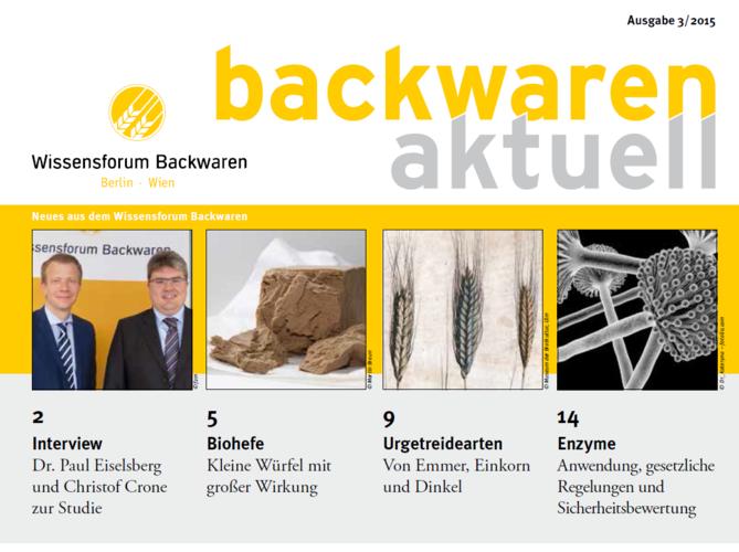 """Titelblatt der Ausgabe 3/2015 von """"backwaren aktuell""""."""