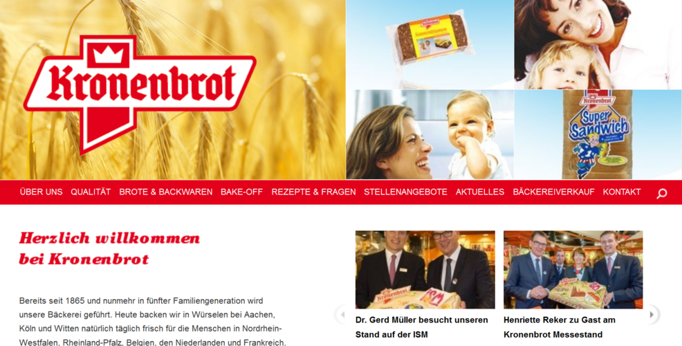 Kronenbrot beliefert unter anderem namhafte Lebensmitteleinzelhändler.