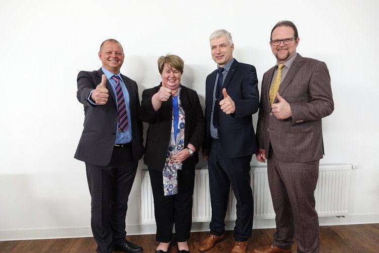 Mitglieder des Vorstands des Landesinnungsverbandes für das Württembergische Bäckerhandwerk (v.l.) stv. LIM Michael Winter, stv. OMin Judith Sauter, LIM Martin Reinhardt, OM Eberhard Binder.