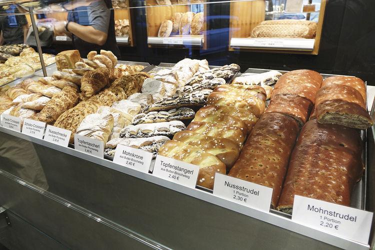 Auch das Plundersortiment der Bäckerei Brandl kann sich sehen lassen.