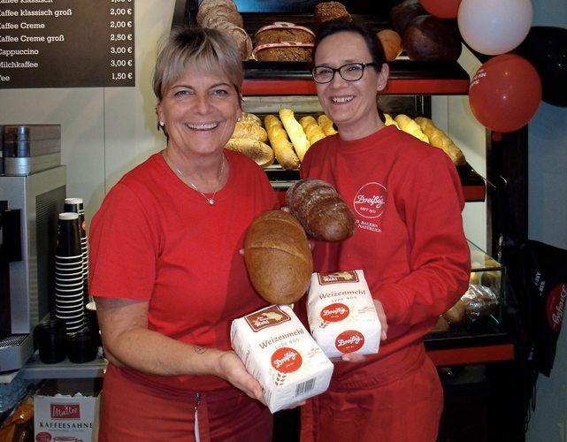 Brote aus 100 Prozent Brandenburger Mehl präsentiert die Gubener Bäckerei Dreißig auf der Grünen Woche in Berlin.