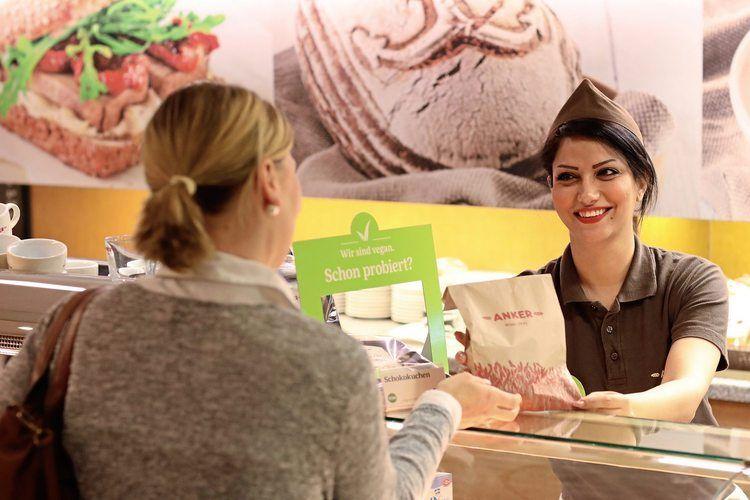 In der Anker-Filiale am Stephansplatz werden ausschließlich vegane Produkte angeboten.