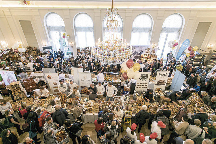 Ganztägig großer Andrang: Das Brotfestival 2018 im Wiener Kursaal Hübner.