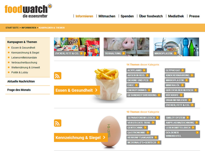 Die Verbraucherorganisation Foodwatch will Hygienezustände auf einer neuen Online-Plattform aktiv schalten.