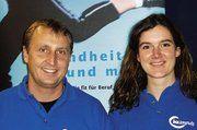 Andreas Rieker und Kristin Seipold von der IKK beim Unternehmerinnenseminar.
