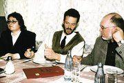 KH-Geschäftsführerin Kerstin Richter mit dem wiedergewählten Obermeister Christian Maaßen und Schriftführer Joachim Laube (von links).