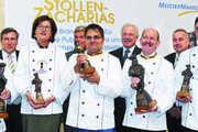 Preisträger und Gratulanten (von links): Achim Lohner (1. Preis), Erwin Schaillée (Meistermarken), Elisabeth Kreutzkamm-Aumüller (2. Preis), Peter Becker (ZV-Präsident), Jörg Liese (Ehrenpreis), Lutz Henning (Bäko-Zentrale Nord), Georg Strohmaier (Pr