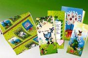 Komplettes Verpackungsprogramm mit Märchenmotiven.