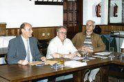 Vor der Versammlung (von links): OM Rainer Schwob, Geschäftsführer Gerhard Fetsch und stellv. OM Georg Ludwig.