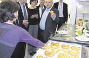 Die französischen Gäste informierten sich in den Räumen der IGV auch über das deutsche Ausbildungssystem.