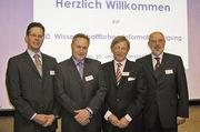Zum Doppeljubiläum zog der Vorstand (von rechts) mit dem Vorsitzenden Prof. Dr. Friedrich Meuser, Johann Berchtold, Christoph Kipping, (Geschäftsführer Kampffmeyer Mühlen) und Götz Kroner (Weizenstärkefabrik) positive Bilanz.