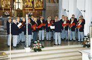 Der Chor Kaiserslautern-Landstuhl als Gastgeber in diesem Jahr trat am Ende des 78. Sängertages auf.