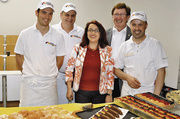 Die Referenten des Bäckerfachvereinseminars Robert Schorp, Rüdiger Klopp, Beate Dechnig und Siegfried Brenneis (von links) zusammen mit Heinz Krauß (hinten rechts), dem Vorsitzenden der Deutschen Bäckerfachvereine.