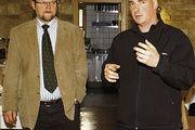 Fernsehkoch Timo Böckle (rechts) und Obermeister Eberhard Binder.