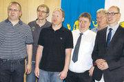 Der neue Vorstand der Bäckerinnung Hildesheim-Alfeld mit dem alten und neuen Obermeister Matthias Zieseniß (rechts).