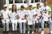 Die erfolgreichen Bäckerlehrlinge nach der Schulmeisterschaft, bei der sie auch viel für die betriebliche Praxis gelernt haben.