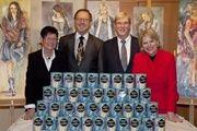 Die Führungsspitze der Mestemacher-Gruppe (von rechts): Prof. Dr. Ulrike Detmers, Albert Detmers, Fritz Detmers und seine Ehefrau Helma.