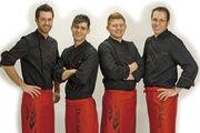 """Jörg Schmid, Bekir Fazliu, Johannes Hirth und Jochen Lude (von links) sind ursprünglich als """"Devil's Bakers"""" angetreten, mussten aber aus Pietätsgründen den Namen ändern. Jetzt sind die Teufelskerle als """"Wild Bakers"""" unterwegs."""