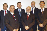 Gemeinsame Talk-Runde zum Thema Verbraucherschutz mit (von links): Öko-Test-Chefredakteuer Jürgen Stellpflug, Dr. Michael Winter (BMELV), Moderator Dietrich Holler, Prof. Dr. Reiner Wittkowski (BfR), Dr. Udo Spiegel (Oetker-Nahrungsmittel KG) und Ral