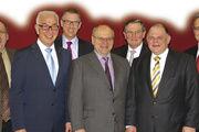 Der BIV Hessen zeigt sich gut aufgestellt (von links) Karl-Friedrich Junk, LIM Wolfgang Schäfer, Hans-Hermann Schröer (stellv. LIM), Bernd Ehinger (Hessischer Handwerkstag), Klaus Nennhuber (stellv. LIM), GF Stefan Körber und Bernd Braun.