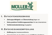 Eine Chronik des Scheiterns: das Gutachten des Insolvenzverwalters der Brotfabrik in Neufahrn.