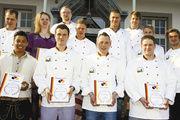 Die Teilnehmer des Backwaren Designpreises an der Bäckerfachschule Olpe.