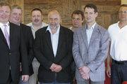 Die neue Vorstandschaft der Bäckerinnung Ulm (v. l.) Obermeister Marcus Staib, stellvertretender Obermeister Stefan Kreibich, Vorstandsmitglieder Uwe Stenzel, Martin Zaiser, Willi Frieß, Reiner Mettmann, Michael Betz.
