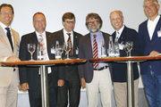 Unterhaltsame Diskussionsrunde mit (von links) Dr. Manfred Miller, Andreas Bosse, Prof. Dr. Dr. Thomas Roeb, Friedbert Förster, Alexander Heberer und Moderator Jean-George Ploner.