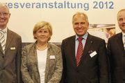 Freuten sich über die Resoanz: CSM-Chef Thomas Tanck (l.), Vertriebsdirektor Klaus Nannt (r.) und die Referenten Annette Mützel, Werner Küstenmacher.