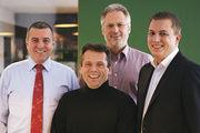 Die Geschäftsführer der Optimo-Bercher-Gesellschaften: (Von links): Georg Bercher, Willy Hamma, Wolfgang Wachter und David Bercher.