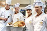 Die Nationalmannschaft kämpft um den Golden Breadcup (v. l.): Jochen Baier, Georg Schneider, Thérése Lehnart, Alexander Schellenberger.