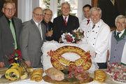 Oberbürgermeister Heinz Fenrich (Mitte) beim Neujahrsempfang u. a. mit Ehren-OM Reinhard Winkler (3. v. l.) und OM Karl-Heinz Jooß (2.v. r.)