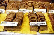 Eine große Auswahl an Backwaren aus den alten Kulturpflanzen wurden präsentiert, alle hergestellt von den Meisterschülern der Württembergischen Bäckerfachschule.