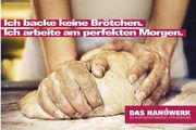 Die neue Imagekampagne des deutschen Handwerks setzt auch die Leistungen des Bäckerhandwerks originell in Szene.