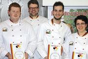 Die Sieger des diesjährigen Backwaren-Designpreises (von links): Mark Keienburg, Christian Bremicker, Max Kugel und Sandra Frey.