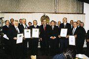 Rudi Schultz, Walter Heim, Werner Dächert, Hartmut Doppler, Wilfried Sutter, Horst Dietz, Otto Moock (von links).