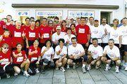 Die Teams der Bäckerei Fuchs und der Metzgerei Nießlbeck waren mit 30 bzw. 25 Teilnehmerns beim Stadtlauf am Start.