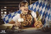 Bayerische Brezn als eine der Kalender-Attraktionen der Bäckerei Wiesender – und geschützte Marke.