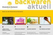 """Titelblatt des neuen Heftes von  """"Backwaren aktuell""""."""