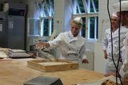 Beim Dreh des Werbespots für das Bäckerhandwerk in der Akademie Lochham.