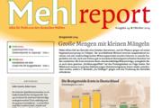 Die Ernte 2014 steht im Fokus der Ausgabe 24 des Mehlreports.