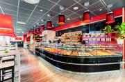 In der Kubus-Theke ist Platz für Brötchen, Feingebäck und Snacks.