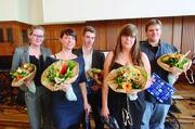 Die Besten (von links): Kristine Maria Haase, Ilona Gassmann, Tobias Zabel, Stefanie Zielke und Christian Dühr.
