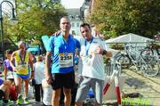 Ralf Stadler (rechts) mit seinem Trainer Michel Bierhals.