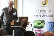 Prof. Dr. Klaus Lösche, Leiter des ttz Bremerhaven bei der Einweihung des Erweiterungsbaus.
