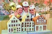 Die drei Besten (von links): Marina Lovkina mit dem Buddenbrookhaus sowie Lea Karimullina und Anna Sharapova.